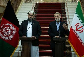 دیدار رییس مجلس سنای افغانستان با علی لاریجانی