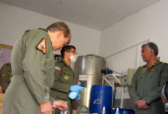 راه اندازی خط تولید موادضد عفونی کننده در پایگاه هوایی بوشهر