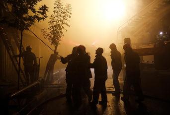 آتش سوزی در خیابان امیرکبیر تهران
