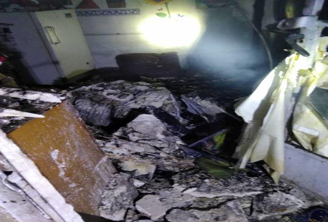 آتش سوزی گسترده در یک انبار کالا/تعداد مصدومین مشخص شد