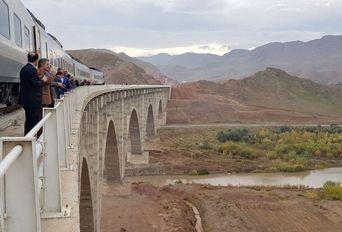 افتتاح مسیر عبور آزمایشی قطار قزوین به رشت