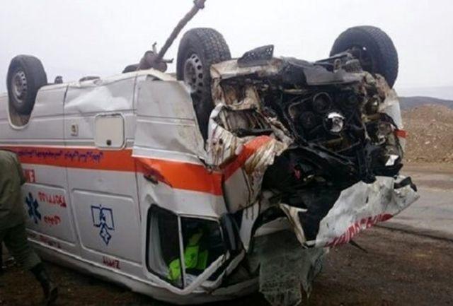تصادف در محور علویجه راننده آمبولانس و مادر باردار را به کام مرگ کشاند