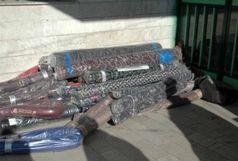 247 طاقه پارچه خارجی قاچاق در اصفهان کشف شد