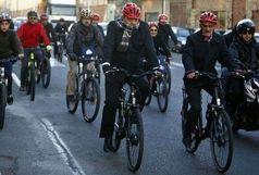 دوچرخه سواری و قدم زدن  همراه با شهردار تهران