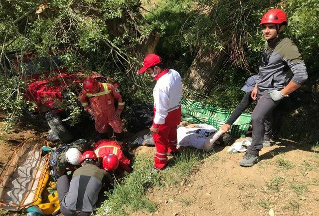 واژگونی خودرو جیب سر باز در ارتفاعات وردیج/ شمار مصدومان اعلام شد+ عکس