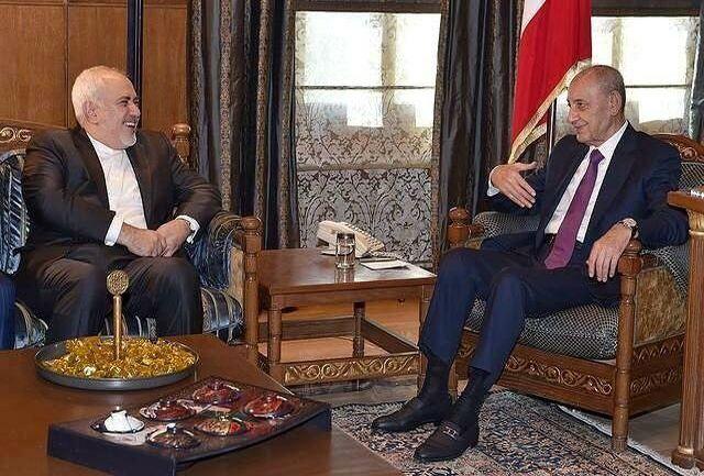 دیدار ظریف با رییس مجلس لبنان