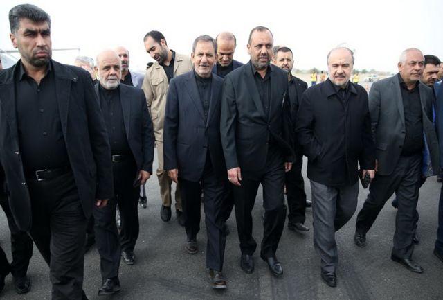 حضور معاون اول رییسجمهوری و وزیر ورزش و جوانان در راهپیمایی عظیم اربعین حسینی