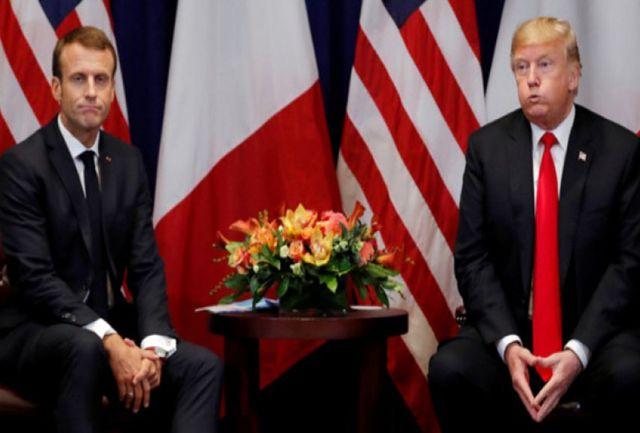 حمله ترامپ به مکرون در بدو ورود به پاریس!