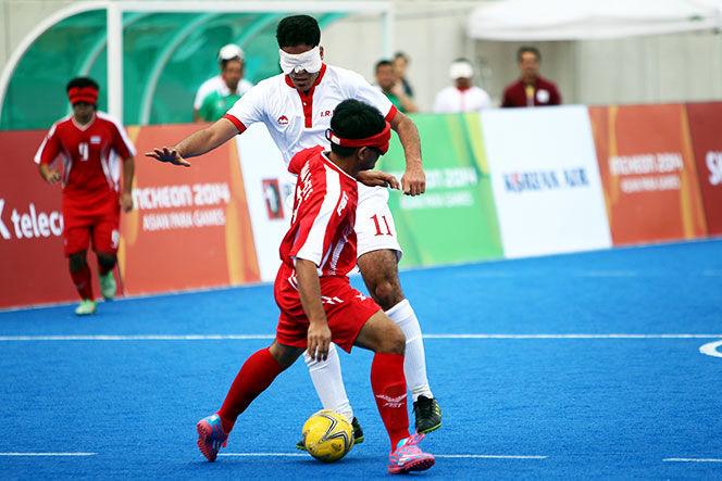 تیم ملی فوتبال نابینایان برابر عمان به پیروزی دست یافت