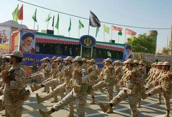 مراسم رژه نیروهای مسلح درخرم آباد