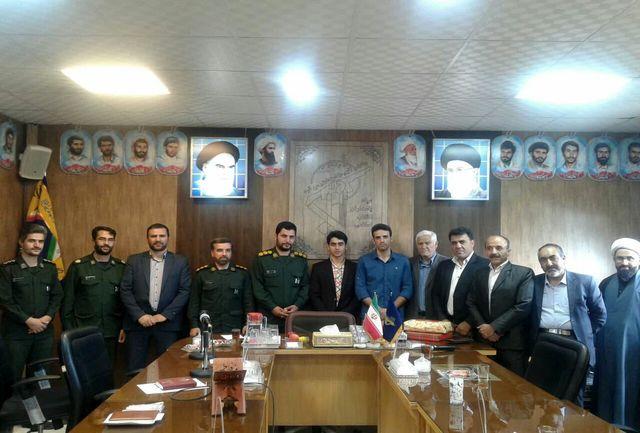 ووشوکار خمینی شهری مدال طلای خود را  به رهبر تقدیم کرد
