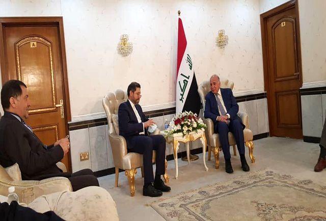 خطیب زاده با وزیر خارجه عراق دیدار کرد
