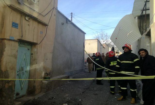 نشت گاز باعث انفجار در منزل مسکونی در محله حاجی آباد سنندج شد