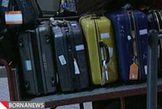 دزد چمدان های بارسلون در داخل چمدان گیر افتاد