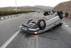 5 مصدوم در واژگونی خودروی سواری در قاین-گناباد