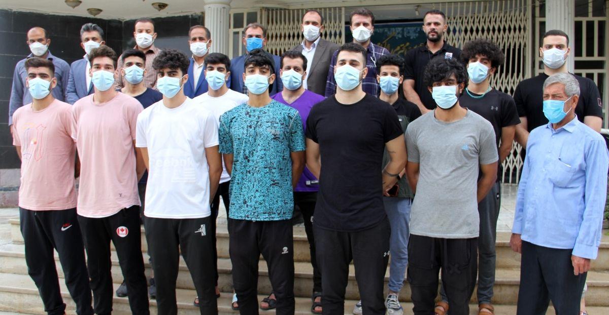 بدرقه تیم خانه بسکتبال یاسوج به رقابتهای پلی اف لیگ دسته دوم کشور