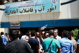 شهروندان آبادان تجمع کردند/ آبادانی ها خواستار ورود مسئولین کشوری شدند+ببینید