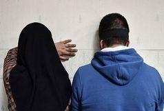 دستگیری زن و مردی با ۳۰ کیلو تریاک درماشین!