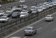 ترافیک نیمه سنگین در آزادراه کرج-تهران/ بارش باران در استان کهگیلویه و بویراحمد
