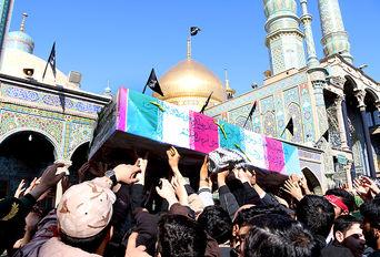 مراسم تشییع شهدای گمنام در قم