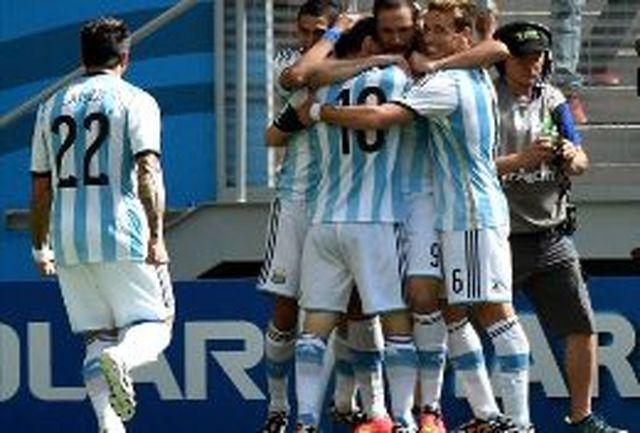 هیگواین بهترین بازیکن دیدار آرژانتین و بلژیک شد
