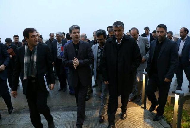 وزیر راه و شهرسازی وارد ارومیه شد