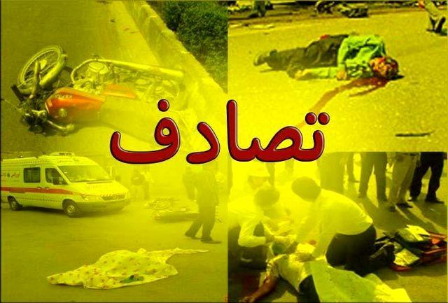 تصادف در اتوبان فرودگاه اصفهان
