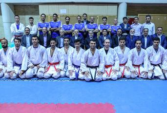 بازدید وزیر ورزش و رئیس کمیته ملی المپیک از اردوی تیم ملی کاراته