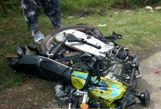 تصادف مرگبار مرگ 2 جوان موتورسوار