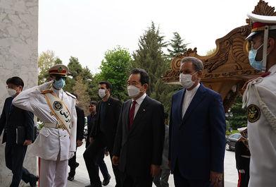 استقبال معاون اول رییس جمهوری از نخست وزیر کره جنوبی