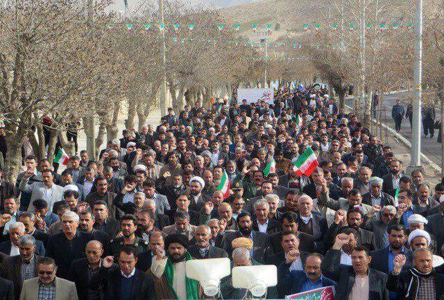 راهپیمایی 22 بهمن با حضور گسترده مردم ملکشاهی برگزار شد
