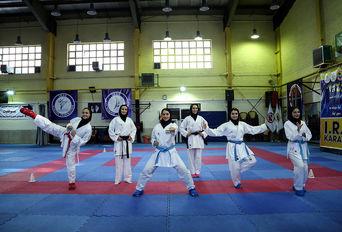 تمرین تیم ملی کاراته بانوان