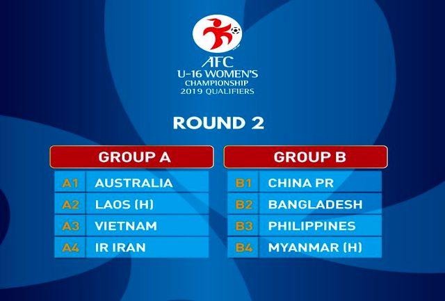 برنامه زمانبندی مرحله دوم  مسابقات فوتبال بانوان زیر 16 سال آسیا اعلام شد