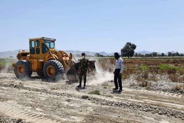 رفع تصرف  58 هکتار از اراضی ملی در  میناب