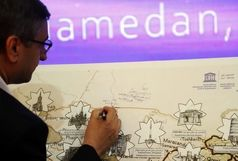 گشایش نمایشگاه صلح نوشتههای جاده ابریشم در همدان