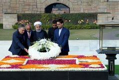 ادای احترام دکتر روحانی به گاندی