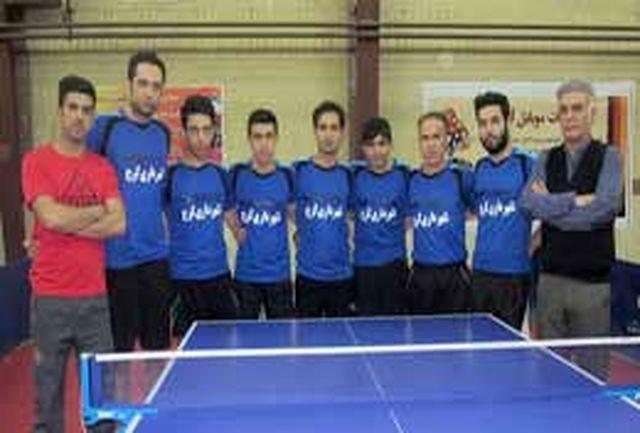 شهرداری کرج قهرمان دور رفت لیگ تنیس روی میز البرز