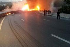 آتش به جان واگنهای قطار مسافربری اسلامشهر افتاد+ فیلم