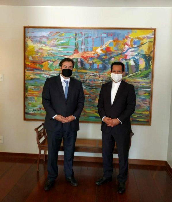 دیدار قریبی با رئیس مجلس نمایندگان برزیل/ دعوت از رودریگو مایا برای سفر به ایران