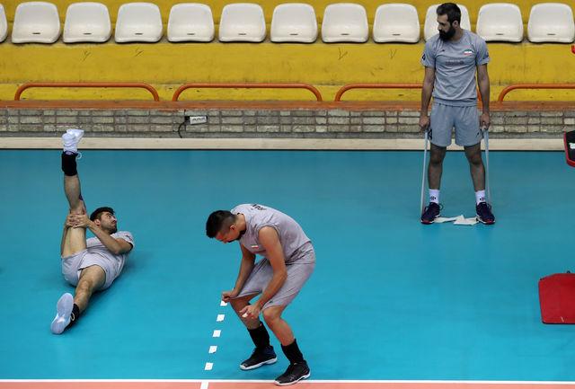 تمرین سبک ملیپوشان والیبال پیش از دیدار با کوبا