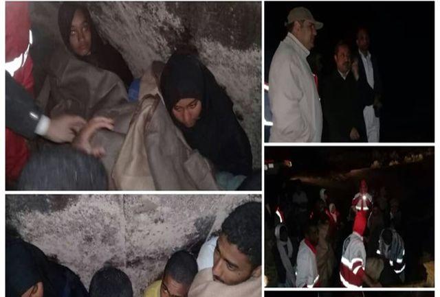پس از ۸ ساعت تلاش ، ۷ دانش آموزدلگانی گرفتار در سیلاب نجات یافتند