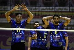 برتری تیم والیبال شهروند اراک در مقابل شهرداری تبریز