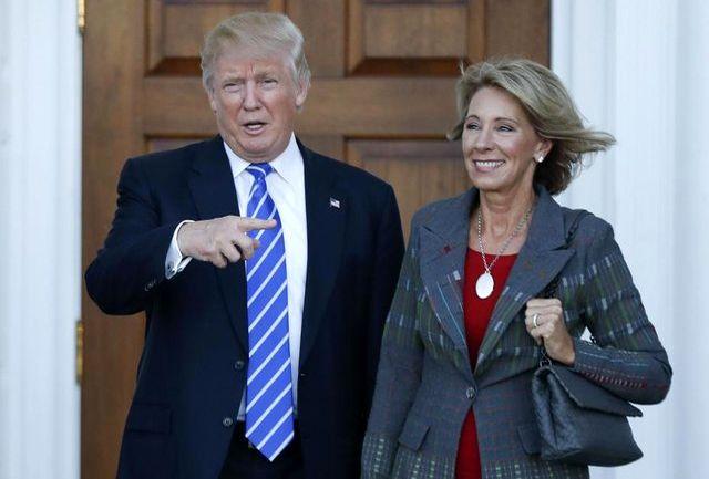 دونالد ترامپ وزارت آموزش را به یک زن میلیاردر سپرد!