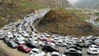 ترافیک فوق سنگین در جاده چالوس