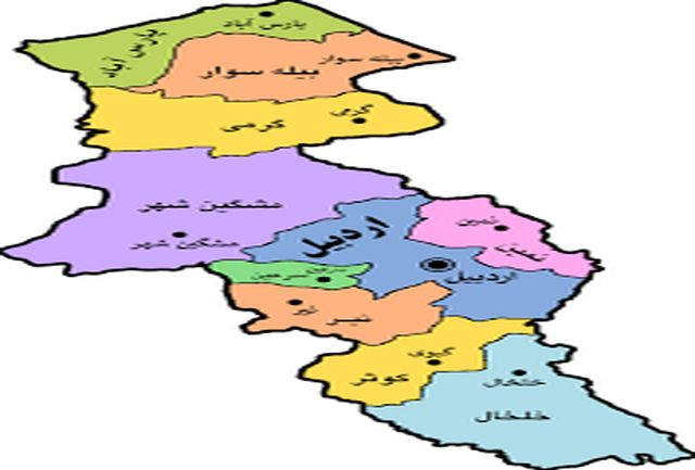 2 شهرستان زرد کرونایی استان اردبیل تا 18 فروردین 1400