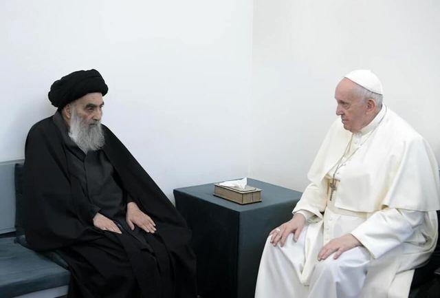 بیانیه دفتر آیت الله العظمی سیستانی پس از دیدار پاپ