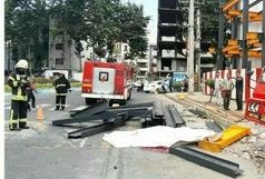 مرگ کارگر جوان بر اثر سقوط مصالح ساختمانی