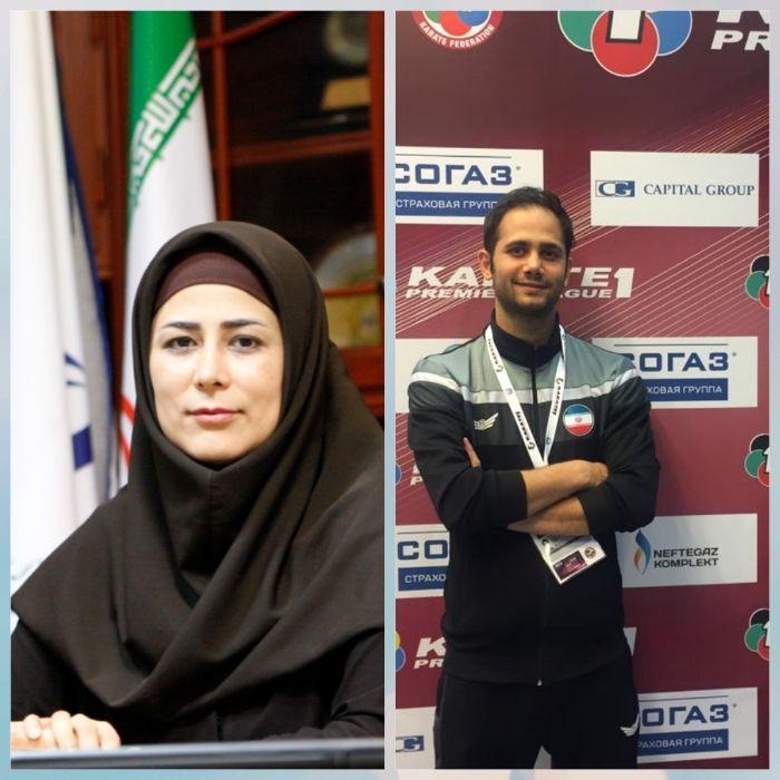 پیام تبریک مدیرکل ورزش و جوانان گیلان به مربی گیلانی تیم ملی کاراته ایران