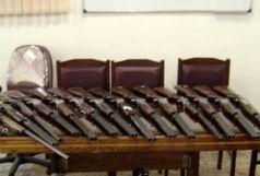 کشف 14 قبضه سلاح شکاری غیرمجاز در گیلان