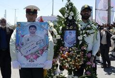 تشییع پیکر ۲ شهید نیروی انتظامی در زاهدان